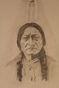 Michael Mcgrath Metal Prints - Sitting Bull Metal Print by Michael McGrath
