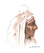 Dakota Drawings - Sitting Bull by Paul Shafranski