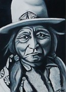 Indian Pastels Prints - Sitting Bull Print by Treacey Kotze