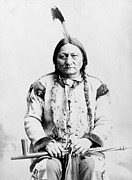 Native Framed Prints - Sitting Bull Framed Print by War Is Hell Store