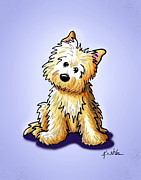 Cairn Terrier Prints - Sitting Cairn Terrier Print by Kim Niles
