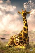 Daniel Eskridge - Sitting Giraffe