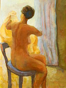 Alfons Niex - Sitting Nude Woman