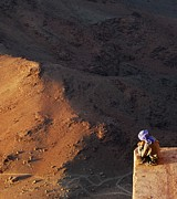 Sinai Prints - Sitting On Top Of The World Print by Hannes Cmarits