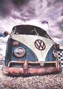 Volkswagen Pastels Prints - Sitting pretty Print by Art-Haus-Ink