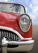 Red Street Rod Framed Prints - Sitting Pretty - Buick Framed Print by Mike McGlothlen