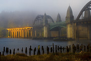 Famous Bridge Originals - Siuslaw Bridge at Sunrise by Ken McDougal