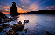 Sunset Photo Prints - Siwash Rock Print by Alexis Birkill