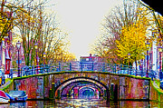 Amsterdam Digital Art - Six Bridges by Pravine Chester