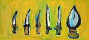 Blade Paintings - Six Daggers by Fabrizio Cassetta