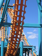 Face Prints - Six Flags America - Two-Face Roller Coaster - 12121 Print by DC Photographer