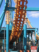 Two Prints - Six Flags America - Two-Face Roller Coaster - 12123 Print by DC Photographer