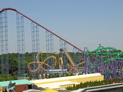 Wild Art - Six Flags America - Wild One Roller Coaster - 12123 by DC Photographer