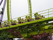Six Flags Great Adventure - Medusa Roller Coaster - 12121 Print by DC Photographer