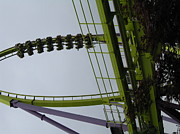 Medusa Metal Prints - Six Flags Great Adventure - Medusa Roller Coaster - 12122 Metal Print by DC Photographer