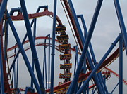 Flags Prints - Six Flags Great Adventure - Medusa Roller Coaster - 12125 Print by DC Photographer