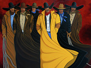 Contemporary Cowboy Paintings - Six Pac by Lance Headlee