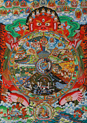 Processions Framed Prints - Six realms wheel of life Framed Print by Lanjee Chee