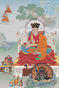 Tibet Mixed Media Prints - Sixteenth Karmapa Rangjung Rikpe Dorje Print by Chris  Banigan