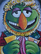 Dr Who Paintings - Sixth Doctor Dr. Teeth  by Lisa Leeman