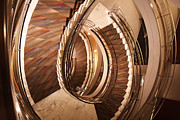 Spiral Staircase Photos - Sixth Floor by David Rucker