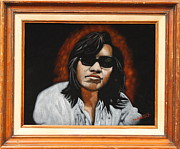 Musicians Tapestries - Textiles - Sixto Rodriguez - Coming From Reality by Diane Bombshelter