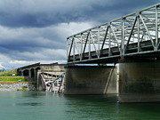 Christopher Fridley Prints - Skagit River Bridge Disaster Print by Christopher Fridley