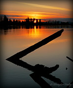 Christopher Fridley Prints - Skagit River Sunset Print by Christopher Fridley