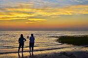 Skaket Beach Sunset 4 Print by Allen Beatty