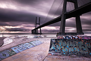 Skate Photo Metal Prints - Skate park Metal Print by Jorge Maia