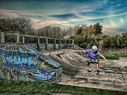 Boarder Prints - Skate Park Print by Sharon Lisa Clarke