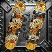 Extreme Digital Art - Skateboard by Mo T