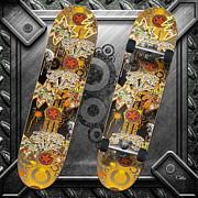 Skateboard Print by Mo T