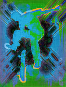 Skater Digital Art Posters - Skateboarder Abstract Poster by David G Paul