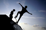 Skating Photo Metal Prints - Skateboarders Metal Print by Fabrizio Troiani