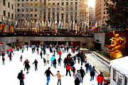 Skating Originals - Skating at Rockefeller Center by Dora Sofia Caputo