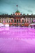 Skating At Somerset House Print by Jasna Buncic