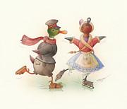 Kestutis Kasparavicius - Skating Ducks 7