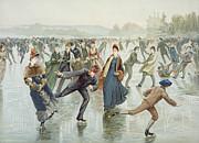 Skating Print by Harry Sandham