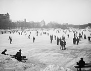 Ice Skating Photos - Skating in Central Park by Anonymous