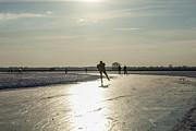 Speed Skating Art - Skating on natural ice in the Netherlands by Patricia Hofmeester