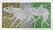 Gond Paintings - Skd 366 by Suresh Kumar Dhurve