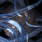 Curves Digital Art Originals - Skein by jammer by First Star Art