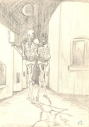 Idyllic Drawings Posters - Skeletons Poster by Levon Saryan