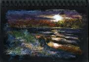 Nj Pastels - Sketch for Early Morning Peace by Peter R Davidson