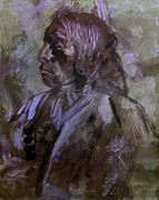 Sketch Originals - Sketch of Indian by John Lautermilch
