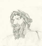 Worship God Drawings - Sketch Sculpture by Bernini by Michael Shegrud
