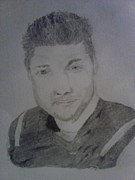 Tebow Drawings Posters - Sketch Work Poster by Corey Wise