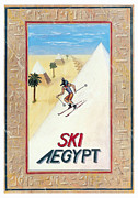 Hieroglyphics Paintings - Ski Aegypt by Richard Deurer