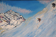 Ski Painting Originals - Ski Alaska by Impressionism Modern and Contemporary Art  By Gregory A Page